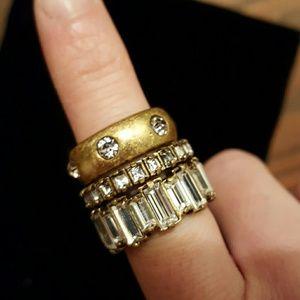 Ann Taylor Jewelry - Ann Taylor 3 Rings Set