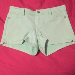 Pants - Lime green stretch shorts