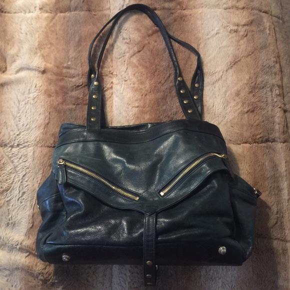 Botkier Trigger large green Leather Satchel Bag