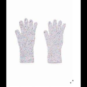 American Apparel Accessories - AA white confetti gloves!💕💗🎉🎉