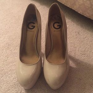 G by Guess Shoes - G by Guess nude heels size 7.5