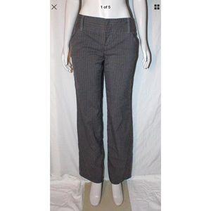 Ellen Tracy Pants - Ellen Tracy Charcoal Gray Strip Dress Pants Sz 4