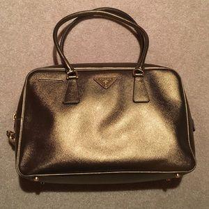 Prada Handbags - Authentic Prada gold saffiano bag