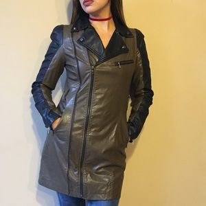 Simple Jackets & Blazers - 🎉FINAL FINAL SALE🎉 Vegan Leather Trench Coat