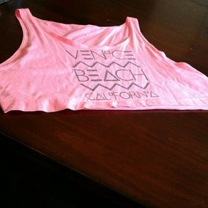 American Apparel Tops - MAKE AN OFFER!! Hot Pink Crop Top