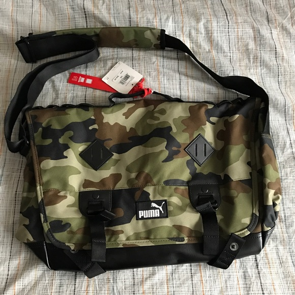 221a6fe9f0e Puma Bags   Camo Print Messenger Bag   Poshmark