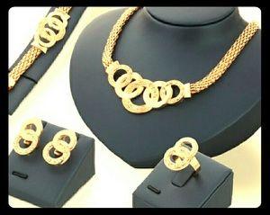 Jewelry - Gold JeWeLrY SeT-CiRcuLaR CuFF StyLe- NWT