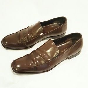 Prada Other - PRADA BROWN SLIP ON LOAFERS 7 WIDE DRESS SHOES