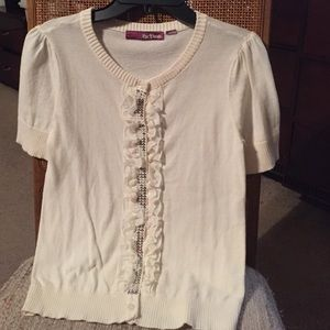 Epic Threads Sweaters - Epic Threads Cream Color Flower Sensation