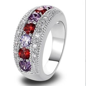 Jewelry - New 925 red stone  ring size 8