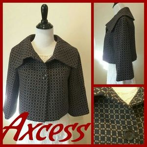 Axcess Jackets & Blazers - AXCESS CROPPED PEACOAT