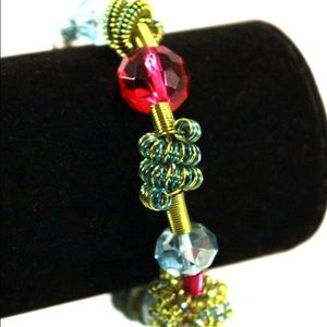 Jewelry - Spring Colored Wire Closure Bracelet