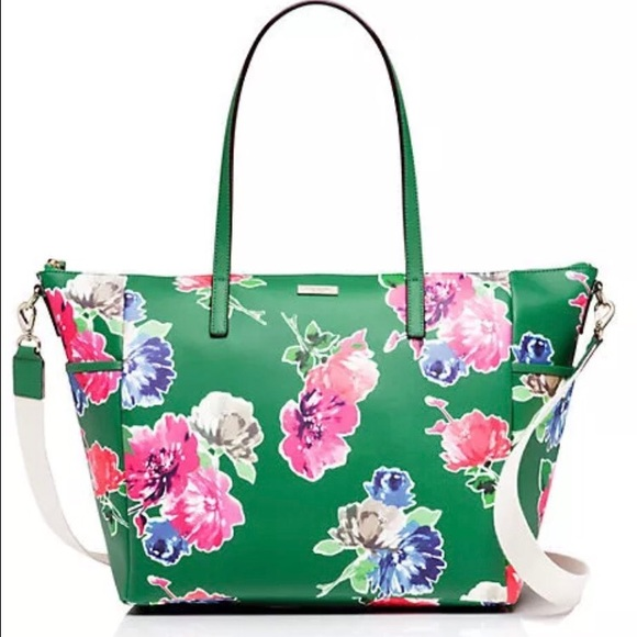 29 off kate spade handbags nwt kate spade grant st adaira floral diaper bag from sharon rose. Black Bedroom Furniture Sets. Home Design Ideas