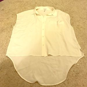 Leith Ivory 100% Silk Blouse - XS