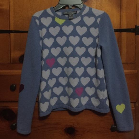 2332cd3a14 SAKS 5th Avenue  heart sweater! M 586086677fab3a931f01f147