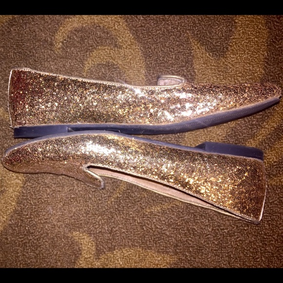 Mossimo Gold Glitter Flats Size 9