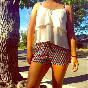 High Contrast Printed Shorts