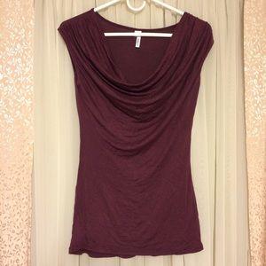 Studio Y Tops - Studio Y plum scoop neck Shirt XS