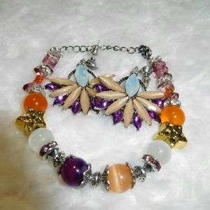 Handmade Jewelry - Passion Blossoms Bracelet and Earring Set