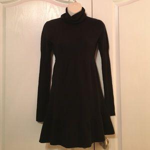Liv Dresses & Skirts - Black Turtleneck Sweater Dress w/ Ruffle Hem