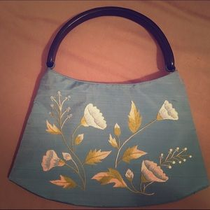 Vintage ethnic embroidered tapestry bag