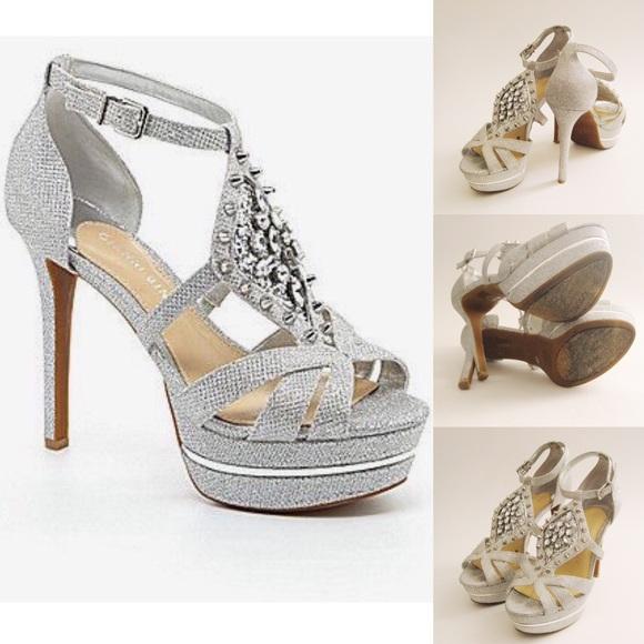 d9ad9f9b398b3 Gianni Bini Shoes - NYE Gianni Bini Iconn Silver High Heels