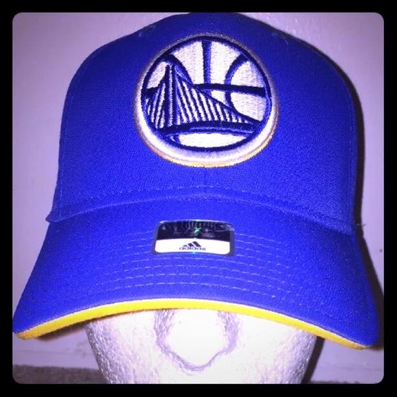 New Golden State Warriors Adidas Hat sz L XL curry 4c1e100a10b4
