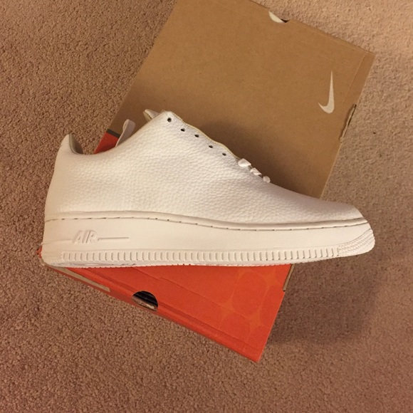 All white Air Force 1 (all leather one piece)
