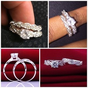 Jewelry - Silver Plated Two Piece Ring Set