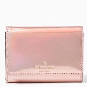 kate spade Handbags - Rose Gold Iridescent DARLA Wallet Kate Spade