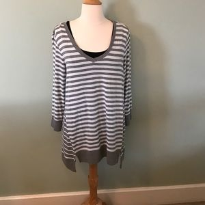 Cable & Gauge Tops - Striped long tunic