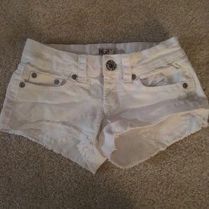 Forever 21 White denim shorts size 00