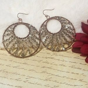 Jesi's Fashionz  Jewelry - *FINAL DROP*Swarovski Crystal and Copper Earrings