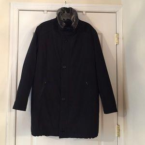 Black Saks Fifth Avenue mens warm winter coat