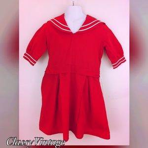 vintage Other - Darling 1950's,60's girls sailor dress