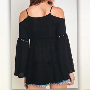 Umgee Tops - 🍪Black bell🍪sleeve off shoulder blouse