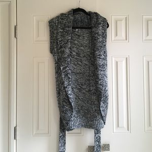 Long Cozy Vest with Belt