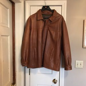 Other - BROWN MEN SOFT LEATHER JACKET