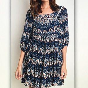 Dresses & Skirts - ☂Blue/orange☂ pattern boho dress