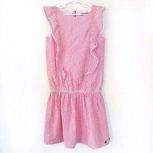 Nautica Other - Nautica pink candy stripe seersucker ruffle dress