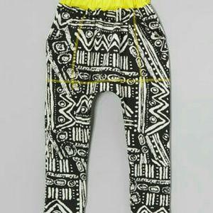 Other - NWOT Black and white Native Harem pants