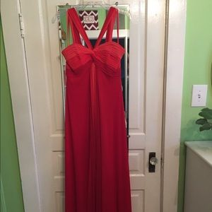 Alex Evenings Dresses & Skirts - Red Chiffon Evening Gown