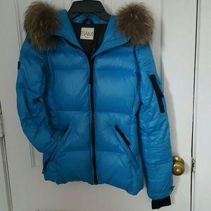SAM. Jackets & Blazers - Women's SAM. Blake Fur-Trim Down Coat XS!