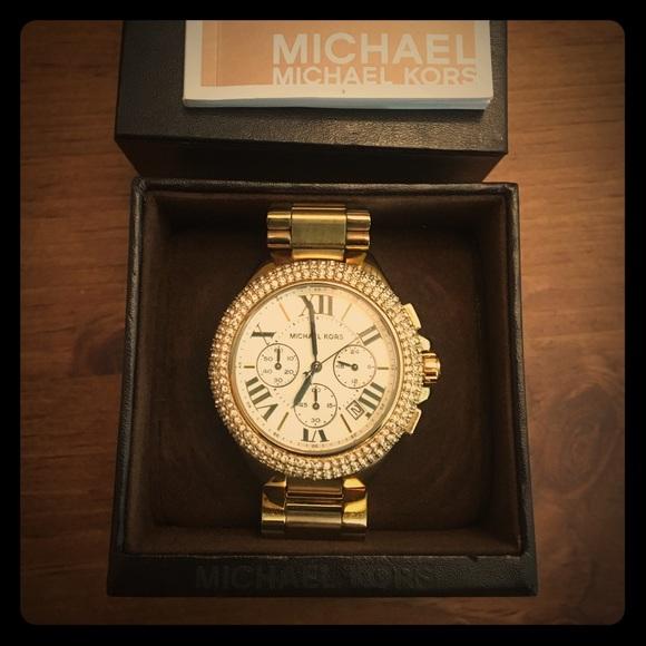 de1bb7f8a194 MIchael Kors Watch Camille Crystal Gold MK5756. M 586150218f0fc4b803141994