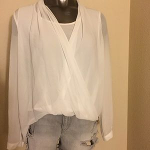 All Saints Tops - AllSaints White Abi Vik Blouse