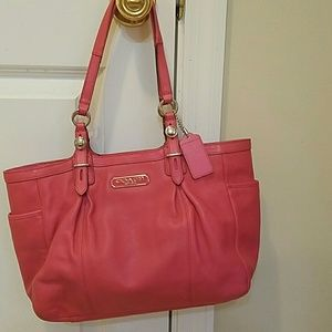 Coach Coral Leather Satchel