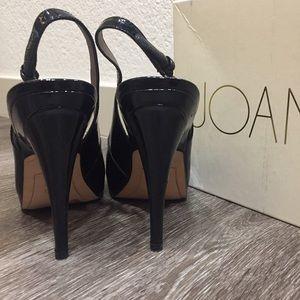 Joan & David Shoes - JOAN & DAVID Black Patent Peep Toe Pumps 6.5
