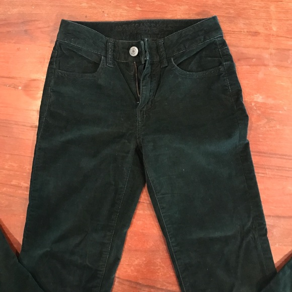 American Eagle Forest Green Corduroy Jeans