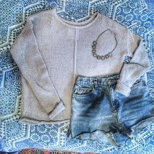  One Teaspoon  grey knit sweater 