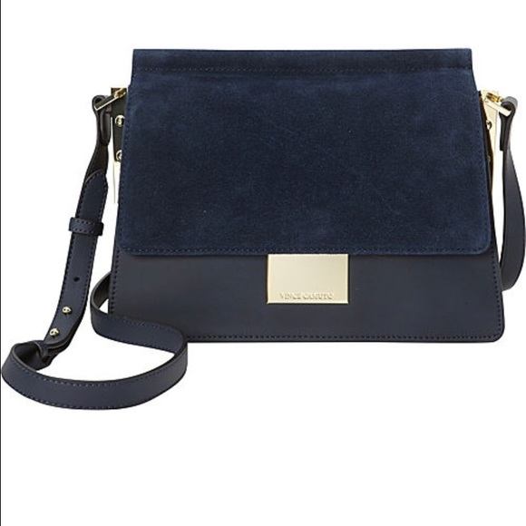 354c5ced6b39 Vince Camuto Abril navy leather Crossbody bag. M 586bcbf92fd0b77d50148279